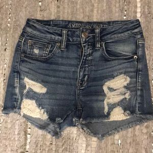 American Eagle Distressed Next Level Shorts